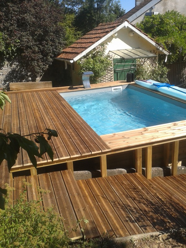 R alisations paysagiste besan on vesoul gray doubs haute sa ne - Habillage piscine hors sol intex ...